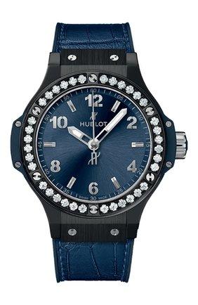 Женские часы big bang ceramic blue diamonds HUBLOT синего цвета, арт. 361.CM.7170.LR.1204 | Фото 1