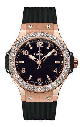 Женские часы big bang gold diamonds HUBLOT черного цвета, арт. 361.PX.1280.RX.1104 | Фото 1