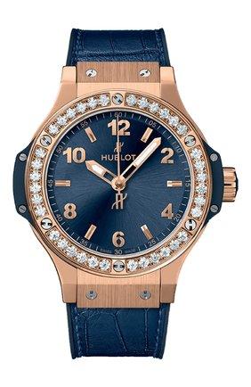 Женские часы big bang gold blue diamonds HUBLOT синего цвета, арт. 361.PX.7180.LR.1204 | Фото 1