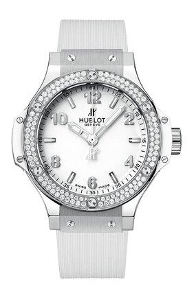 Женские часы big bang steel white diamonds HUBLOT белого цвета, арт. 361.SE.2010.RW.1104 | Фото 1