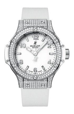 Женские часы big bang steel white pave HUBLOT белого цвета, арт. 361.SE.2010.RW.1704 | Фото 1