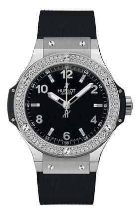 Женские часы big bang steel diamonds HUBLOT черного цвета, арт. 361.SX.1270.RX.1104 | Фото 1