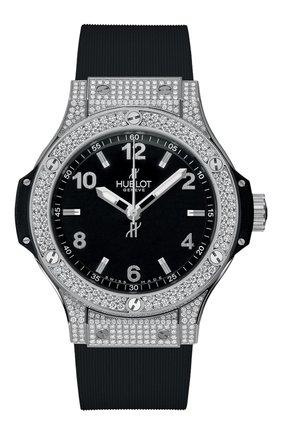 Женские часы big bang steel pave HUBLOT черного цвета, арт. 361.SX.1270.RX.1704 | Фото 1