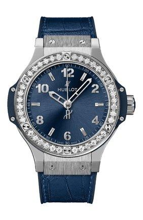 Женские часы big bang steel blue diamonds HUBLOT синего цвета, арт. 361.SX.7170.LR.1204 | Фото 1