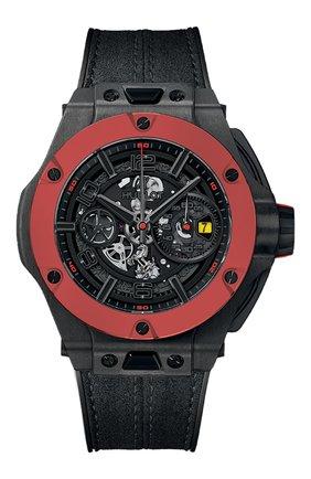 Мужские часы big bang ferrari unico carbon red ceramic HUBLOT черного цвета, арт. 402.QF.0110.WR | Фото 1
