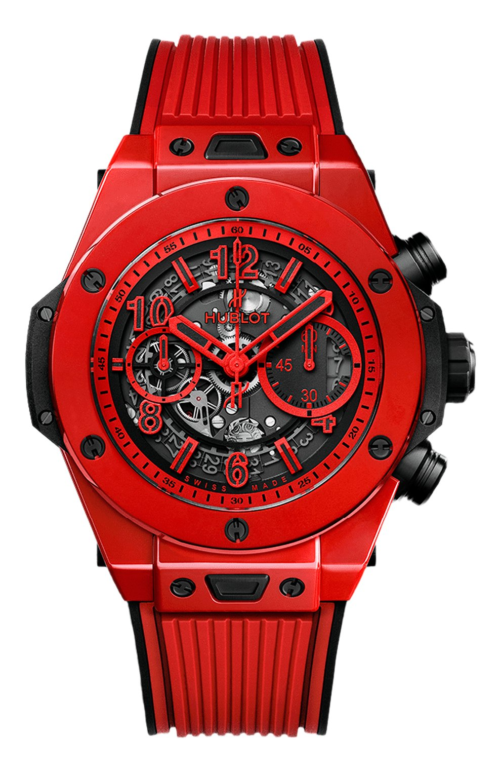 Мужские часы big bang unico red magic HUBLOT серого цвета, арт. 411.CF.8513.RX   Фото 1