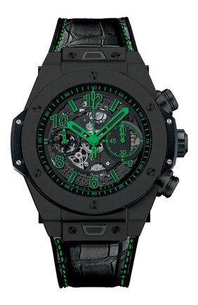 Мужские часы big bang unico all black green HUBLOT черного цвета, арт. 411.CI.1190.LR.ABG14 | Фото 1