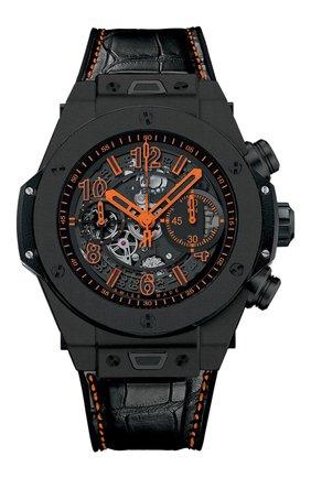 Мужские часы big bang unico all black orange HUBLOT черного цвета, арт. 411.CI.1190.LR.ABO14 | Фото 1