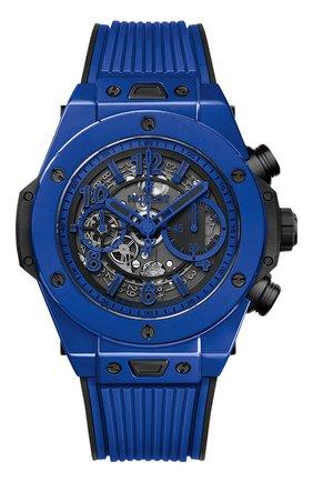 Мужские часы big bang unico blue magic HUBLOT синего цвета, арт. 411.ES.5119.RX | Фото 1
