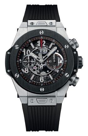 Мужские часы big bang unico titanium ceramic HUBLOT черного цвета, арт. 411.NM.1170.RX | Фото 1