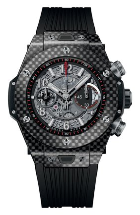 Мужские часы big bang unico carbon HUBLOT серого цвета, арт. 411.QX.1170.RX | Фото 1