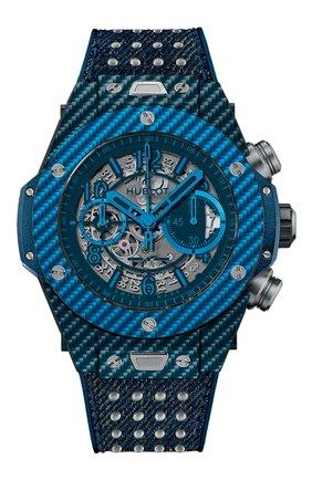 Мужские часы big bang unico italia independent blue HUBLOT синего цвета, арт. 411.YL.5190.NR.ITI15 | Фото 1