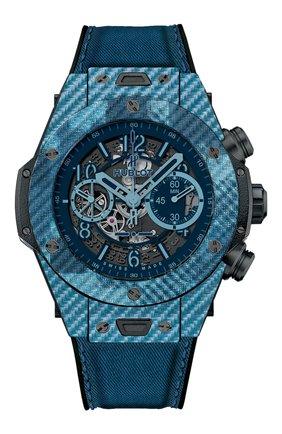 Мужские часы big bang unico italia independent blue camo HUBLOT синего цвета, арт. 411.YL.5190.NR.ITI16 | Фото 1