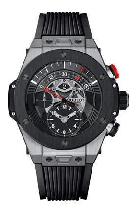 Мужские часы big bang unico bi-retrograde chrono titanium ceramic HUBLOT черного цвета, арт. 413.NM.1127.RX | Фото 1