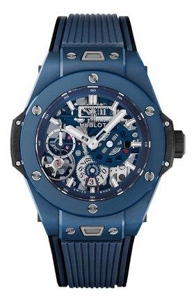 Мужские часы big bang meca-10 ceramic blue HUBLOT синего цвета, арт. 414.EX.5123.RX | Фото 1