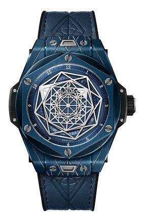 Мужские часы big bang unico sang bleu ceramic blue HUBLOT синего цвета, арт. 415.EX.7179.VR.MXM19 | Фото 1