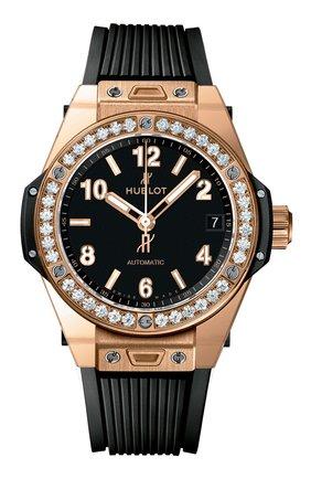 Женские часы big bang one click gold diamonds HUBLOT черного цвета, арт. 465.OX.1180.RX.1204 | Фото 1