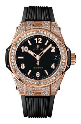 Женские часы big bang one click king gold pave HUBLOT черного цвета, арт. 465.OX.1180.RX.1604 | Фото 1