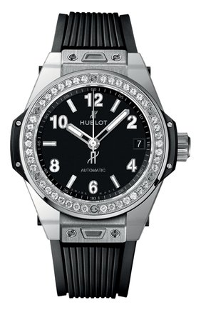 Женские часы big bang one click steel diamonds HUBLOT черного цвета, арт. 465.SX.1170.RX.1204 | Фото 1
