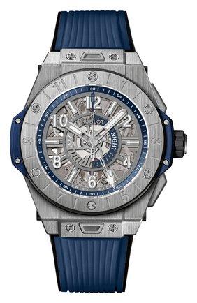 Мужские часы big bang unico titanium blue HUBLOT серого цвета, арт. 471.NX.7112.RX | Фото 1