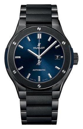 Мужские часы classic fusion ceramic blue bracelet HUBLOT бесцветного цвета, арт. 510.CM.7170.CM | Фото 1