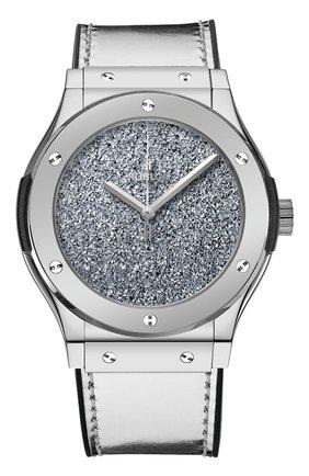 Мужские часы classic fusion titanium osmium HUBLOT серебряного цвета, арт. 511.NS.0600.VR   Фото 1