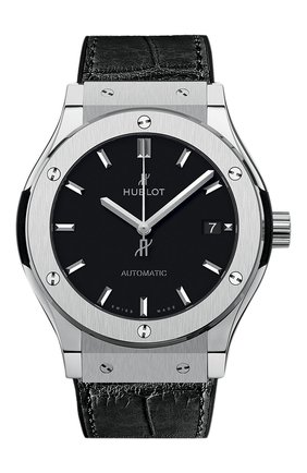 Мужские часы classic fusion titanium HUBLOT черного цвета, арт. 511.NX.1171.LR | Фото 1