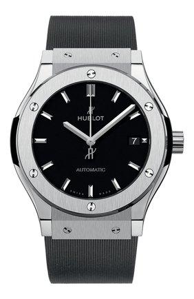 Мужские часы classic fusion titanium HUBLOT черного цвета, арт. 511.NX.1171.RX | Фото 1