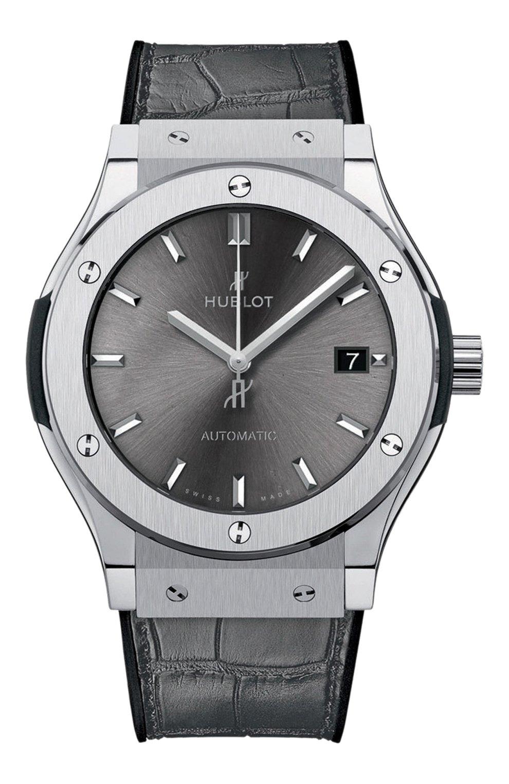 Мужские часы classic fusion titanium grey HUBLOT серебряного цвета, арт. 511.NX.7071.LR | Фото 1