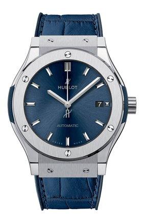 Мужские часы classic fusion blue titanium HUBLOT бесцветного цвета, арт. 511.NX.7170.LR | Фото 1