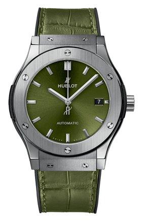 Мужские часы classic fusion titanium green HUBLOT бесцветного цвета, арт. 511.NX.8970.LR | Фото 1