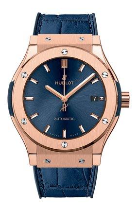 Мужские часы classic fusion blue king gold HUBLOT бесцветного цвета, арт. 511.OX.7180.LR | Фото 1