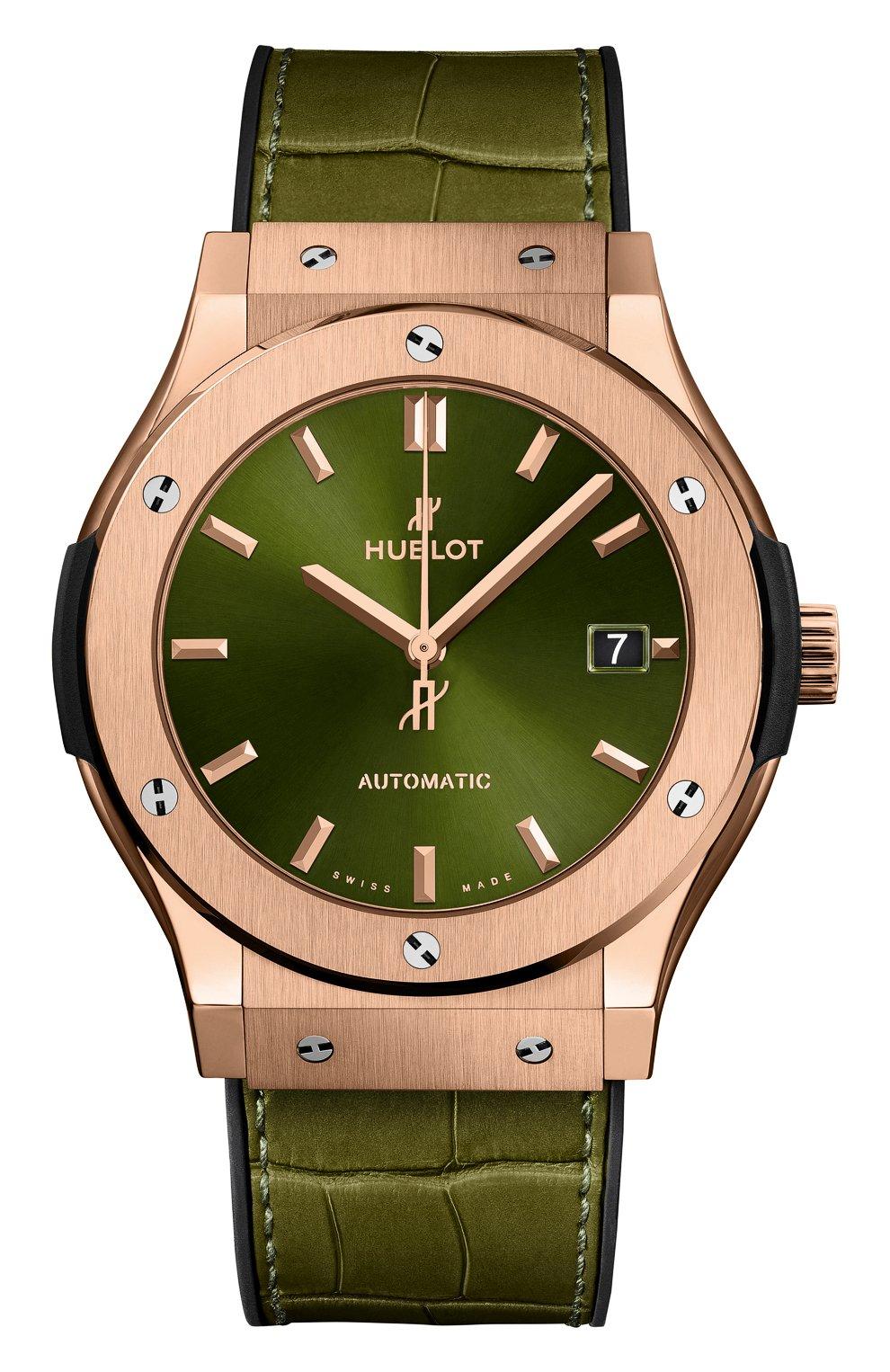 Мужские часы classic fusion king gold green HUBLOT зеленого цвета, арт. 511.OX.8980.LR | Фото 1