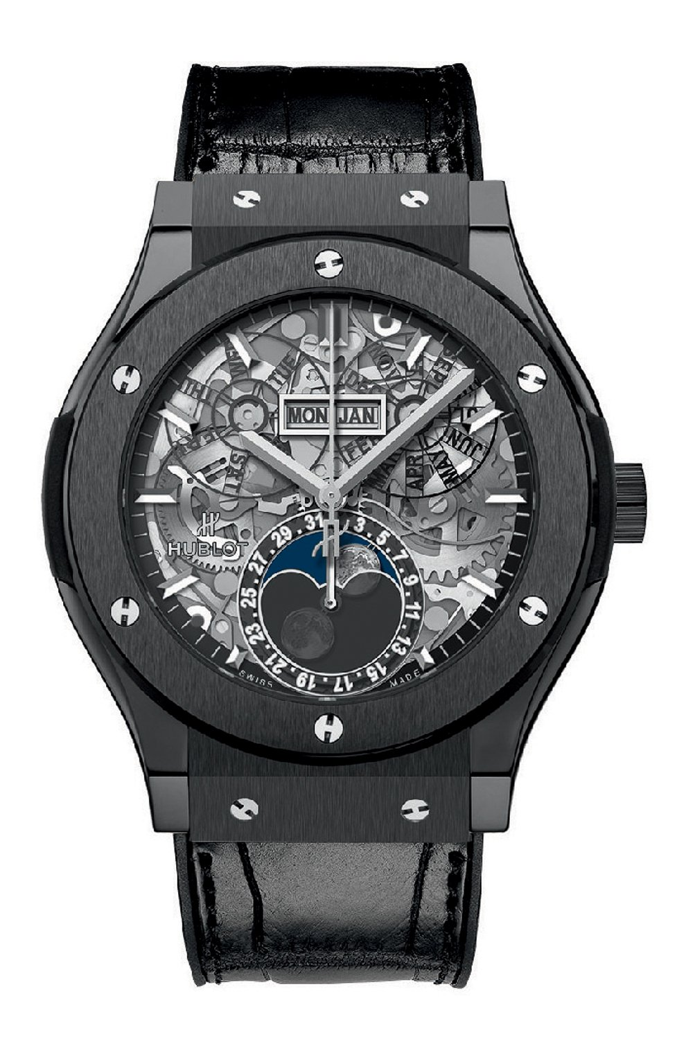 Мужские часы classic fusion aerofusion moonphase ceramic HUBLOT серебряного цвета, арт. 517.CX.0170.LR   Фото 1