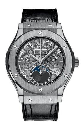 Мужские часы classic fusion aerofusion moonphase titanium HUBLOT серебряного цвета, арт. 517.NX.0170.LR | Фото 1
