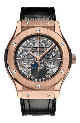 Мужские часы classic fusion aerofusion moonphase king gold HUBLOT серебряного цвета, арт. 517.OX.0180.LR | Фото 1