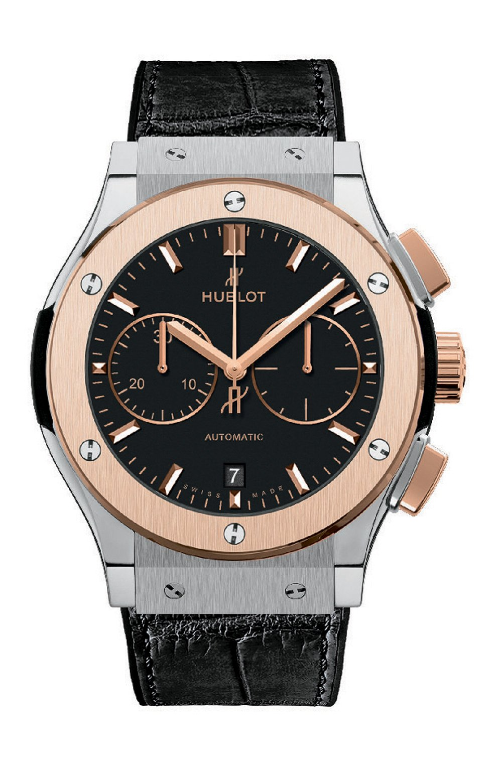 Мужские часы classic fusion titanium king gold HUBLOT черного цвета, арт. 521.NO.1181.LR   Фото 1