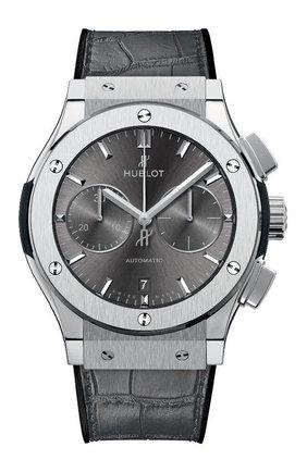 Мужские часы classic fusion racing grey chronograph titanium HUBLOT серого цвета, арт. 521.NX.7071.LR | Фото 1
