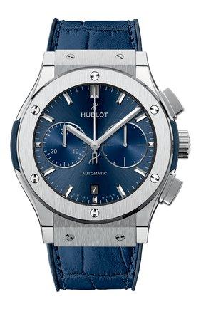 Мужские часы classic fusion blue chronograph titanium HUBLOT бесцветного цвета, арт. 521.NX.7170.LR | Фото 1