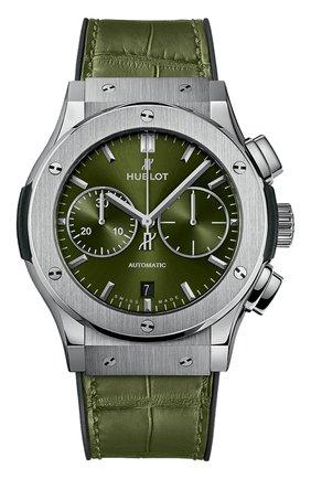 Мужские часы classic fusion chronograph titanium green HUBLOT бесцветного цвета, арт. 521.NX.8970.LR | Фото 1