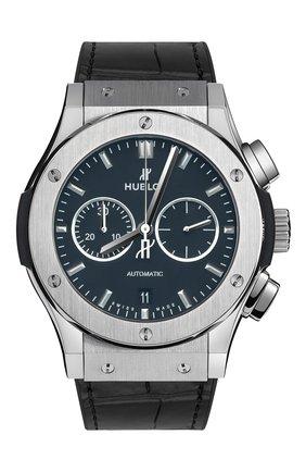 Мужские часы classic fusion chronograph titanium HUBLOT черного цвета, арт. 541.NX.1171.LR | Фото 1