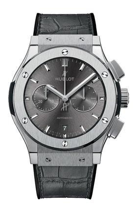 Мужские часы classic fusion racing grey chronograph titanium HUBLOT темно-серого цвета, арт. 541.NX.7070.LR | Фото 1