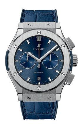 Мужские часы classic fusion blue chronograph titanium HUBLOT бесцветного цвета, арт. 541.NX.7170.LR | Фото 1