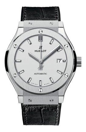 Мужские часы classic fusion titanium opalin HUBLOT серебряного цвета, арт. 542.NX.2611.LR | Фото 1