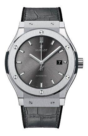 Мужские часы classic fusion racing grey HUBLOT темно-серого цвета, арт. 542.NX.7071.LR | Фото 1
