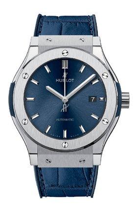 Мужские часы classic fusion blue titanium HUBLOT бесцветного цвета, арт. 542.NX.7170.LR | Фото 1