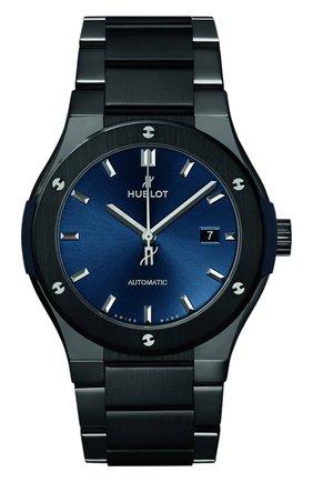 Мужские часы classic fusion ceramic blue bracelet HUBLOT бесцветного цвета, арт. 548.CM.7170.CM | Фото 1
