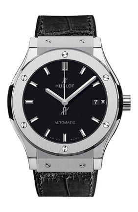 Женские часы classic fusion titanium HUBLOT черного цвета, арт. 565.NX.1171.LR | Фото 1
