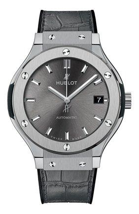 Женские часы classic fusion titanium grey HUBLOT серебряного цвета, арт. 565.NX.7071.LR | Фото 1