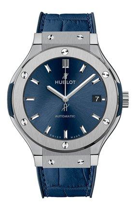 Женские часы classic fusion blue titanium HUBLOT синего цвета, арт. 565.NX.7170.LR | Фото 1